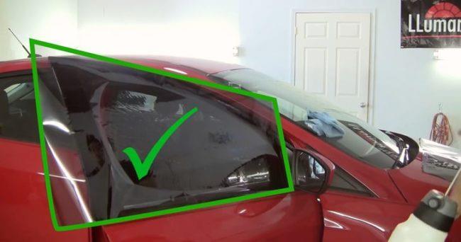Выкройка плёночной тонировки стекла авто