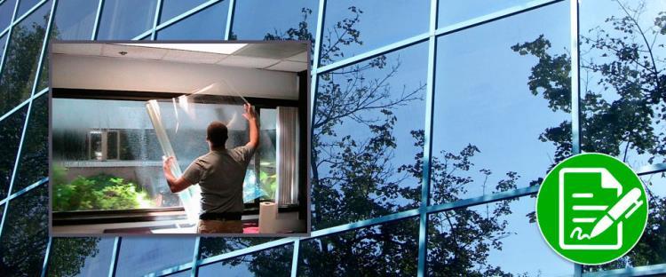 Тонировка пластиковых окон в квартире своими руками