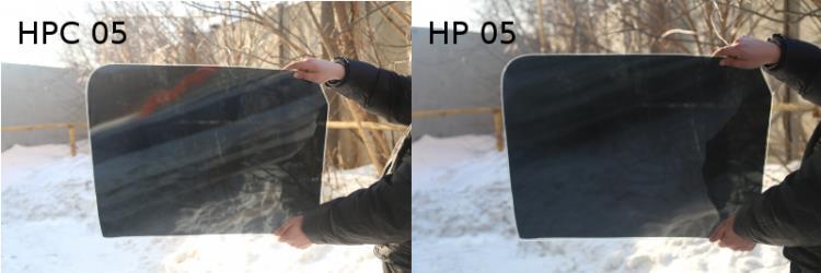 Сравнение плёнки SunTek HP с HPC_2