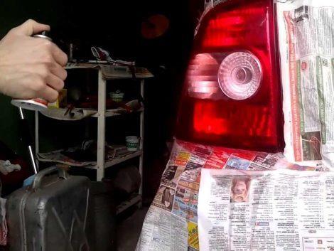 Обработка светотехники тонировочным лаком