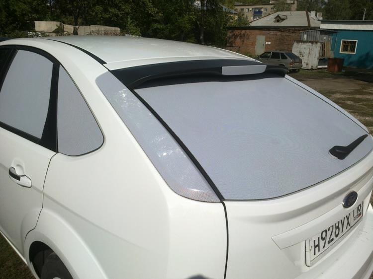 белая тонировка автомобиля