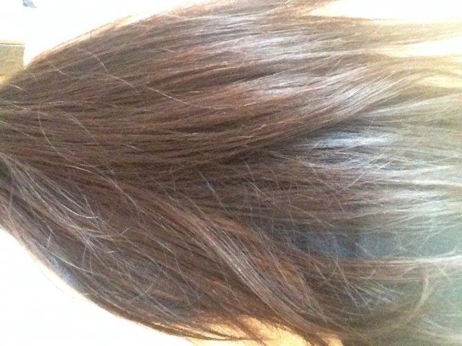 Рыжина на темных волосах
