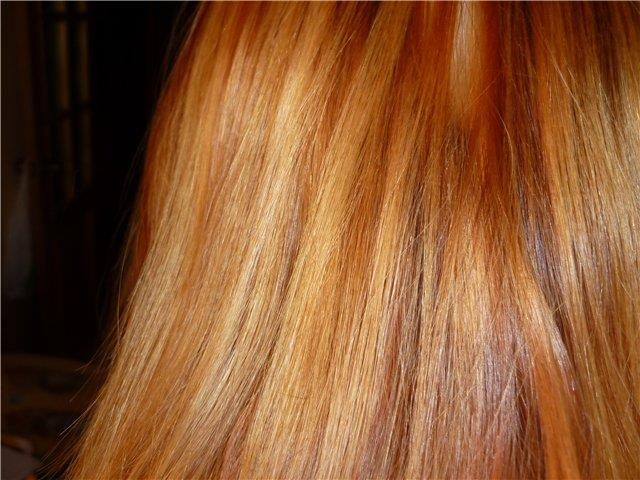 Рыжина на светлых волосах